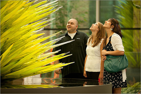 "With attendance passing the 320,000 mark this week, the Museum of Fine Arts exhibit ""Chihuly: Through the Looking Glass'' is on track to be at least the fifth-most-visited MFA show in history. The exhibit will be up through Aug. 7, so it could still move up on in the rankings. Here's a look at the top five shows with attendance figures and a work from each."