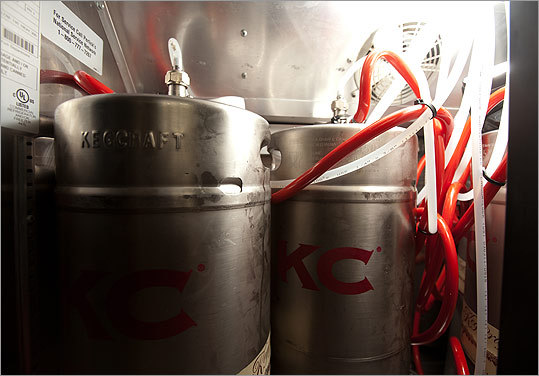 The all-keg wine system at Area Four in Kendall Square was a cost consideration by Chris Graeff, the new restaurant's wine director.