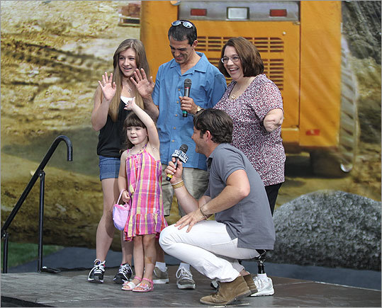 "Jorge's Facebook page buzzed with congratulations all day. Her own post summed up her emotions: ""I can't wait anymore!!!!!!! Too exciting!!!!!!!' Pictured: The Jorge family before the unveiling, from left, Maddie, Sophia, Tony, and Monica with Berkus crouching."