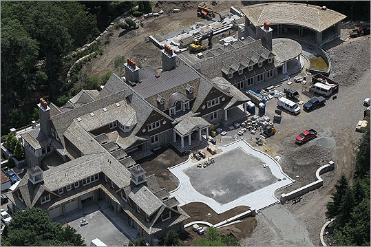 An aerial view of the Henry's home. Read the full story