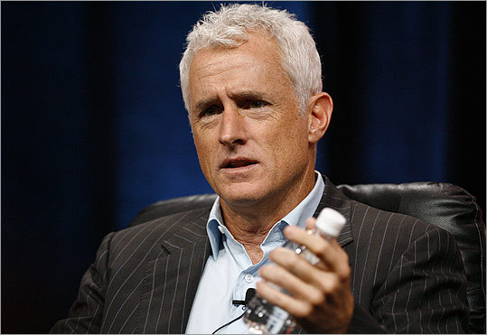 Newton native John Slattery, who plays sex-crazed advertising executive Roger Sterling on AMC's 'Mad Men,' is one of many stars and celebrities currently letting their hair go 'au naturel.' If Slattery's Sterling can land Christina Hendricks's Joan Holloway on 'Mad Men,' then gray hair may just be in vogue. Click through to see more silver-domed stars.