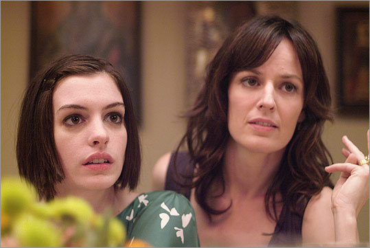Anne Hathaway (left) received an Oscar nomination for Best Actress for her turn as the dysfunctional Kym in the 2008 drama 'Rachel Getting Married.' After years of battling addiction, Kym leaves rehab for the wedding of her well-aligned sister (Rosemarie DeWitt, right). However, ghosts from the past resurface and the two sisters' relationship hangs in the balance.