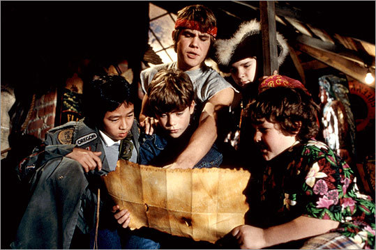 Although the 1985 classic 'The Goonies' features an ensemble cast, two brothers are at the heart of the movie. Mikey (Sean Astin, bottom center) is a wide-eyed excitement-seeker who has to escape the grasp of his tough older brother Brand (Josh Brolin, top center) in order to hunt treasure. Of course, his protective older brother joins the adventure. Also pictured: Ke Huy Quan, Corey Feldman, and Jeff Cohen.