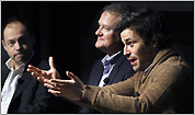 Hugh Bonneville and Rob James-Collier