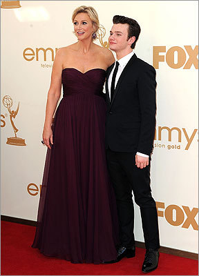 Jane Lynch and Chris Colfer