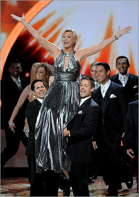 Host Jane Lynch made a grand entrance to the show.