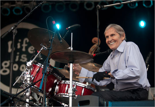 The Levon Helm Band performed on the main stage.