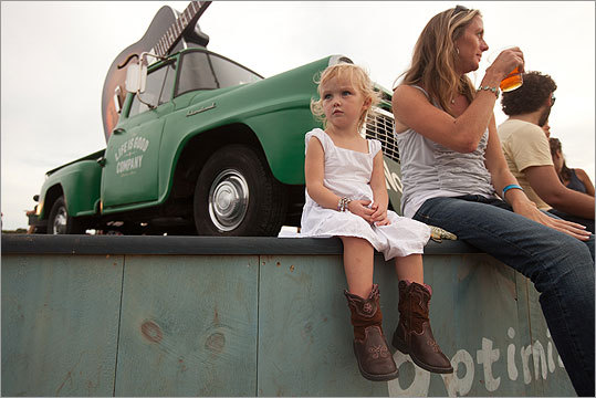 Three-year-old Abigail took a seat with her mom, Danielle.