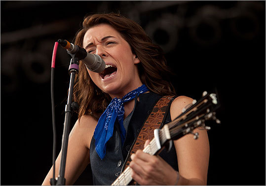 Brandi Carlile performed on the main stage.
