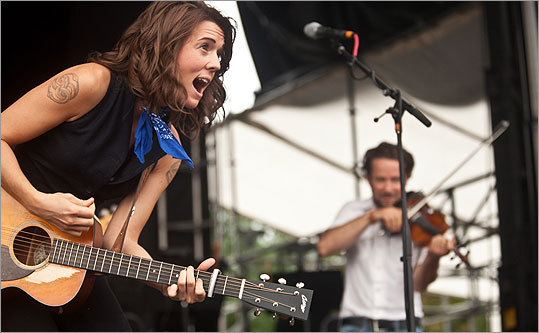 Another shot of Brandi Carlile performing.