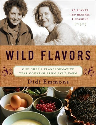 "LOCAL FLAVOR ""WILD FLAVORS: ONE CHEF'S TRANSFORMATIVE YEAR COOKING FROM EVA'S FARM'' BY DIDI EMMONS Emmons is founder of local nonprofit Haley House Bakery Cafe and author of ""Vegetarian Planet.'' Eva Sommaripa grows herbs and greens for top Boston-area restaurants. The two are longtime friends; this personal book is based around the seasons in Sommaripa's garden. Recipes include ginger tofu in beet broth, caramelized parsnip spread, and fish chowder with lovage. (Chelsea Green, $34.95)"