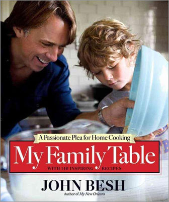 "HOME STYLE ""MY FAMILY TABLE: A PASSIONATE PLEA FOR HOME COOKING'' BY JOHN BESH The Louisiana chef, who operates a slew of restaurants, here advocates for homemade food. Many of the recipes featured are uncomplicated: garlicky baked oysters, beef noodle bowls, pizza on the grill. Glamorizing celebrity chefs, he writes, takes cooking away from the family sphere and discourages people from simply making dinner. He's penned this book to help change that. (Andrews McMeel, $35)"
