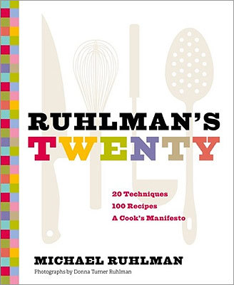 "TECHNIQUES ""RUHLMAN'S TWENTY: 20 TECHNIQUES, 100 RECIPES, A COOK'S MANIFESTO'' BY MICHAEL RUHLMAN Ruhlman teaches people to cook rather than follow recipes. His latest claims cooking boils down to a grasp of techniques: saute, grill, fry, chill, think (the last quite useful in spheres beyond the culinary, too). Then it teaches and applies the crucial skills in dishes such as braised pork belly with caramel-miso glaze, spicy roasted green beans with cumin, and citrus-cured salmon. (Chronicle, $40)"