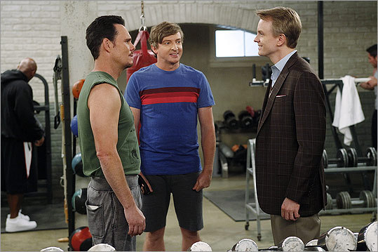 From left: Kevin Dillon, Rhys Darby, and David Hornsby star in the new CBS sitcom 'How to Be a Gentleman.'