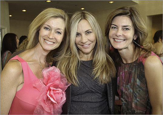 Oct. 6 in Boston More than 300 guests attended The Breast Cancer Research Foundation Inaugural Boston Hot Pink Luncheon and Symposium at the Boston Harbor Hotel. From left: Simone Winston of Weston, Corinne Grousbeck of Weston, and co-chairwoman Katherine Chapman of Boston.