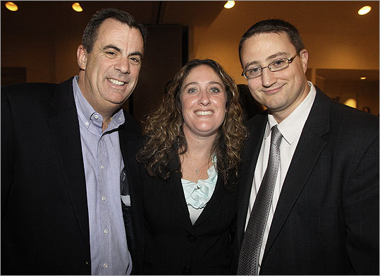 Oct. 6 in Quincy From left: Chris Bell of Quincy with Quincy City Councilors Margaret LaForest and Brian Palmucci.