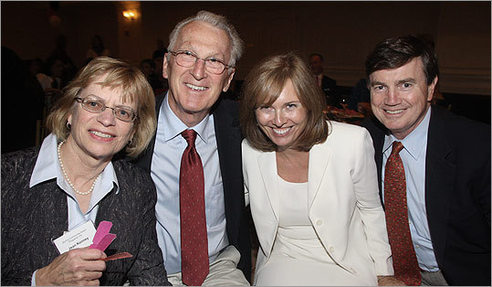 Oct. 6 in Quincy From left: Jean Kenney, board vice president of Quincy Community Action Programs, and her husband, Uncle Sam Rounseville, with Cornell Brellen and attorney David Spillane of Quincy.
