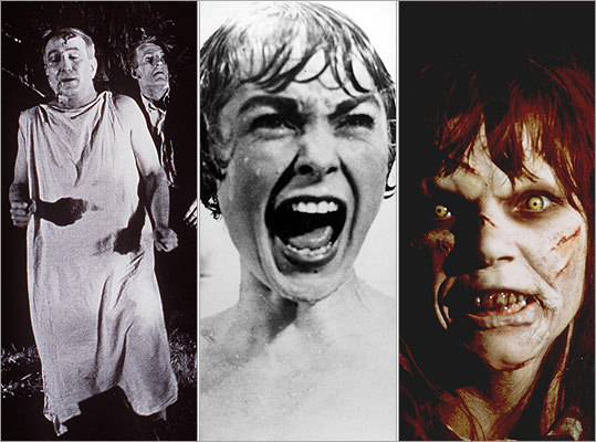 Want a thrill? We have rebooted our list of the 50 scariest movies of all time. While the term 'scary movie' is somewhat subjective, we focused on three main categories: 1. Is the movie so scary that it could change one's behavior? 2. Does the movie have a high likelihood of producing nightmares in many people? 3. Does the movie startle you, make you anxious, get your heart pumping, or just plain gross you out? So draw your curtains, check out our list, tell us what you think , and rank your favorites ! — Jesse Nunes, Globe Staff