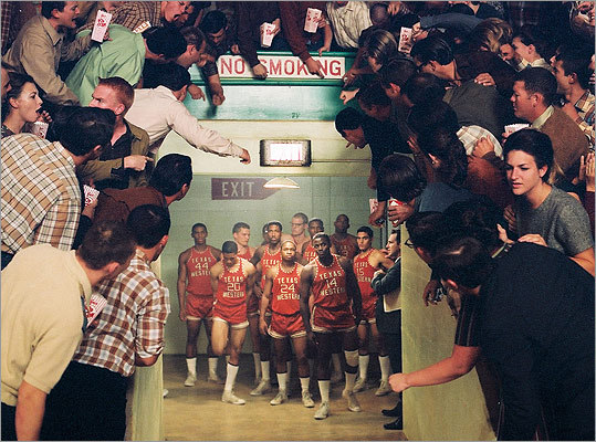 Glory Road This 2006 film stars Josh Lucas as a Texas Western College coach in 1966 who breaks the mold — and the color barrier — by starting an all-black lineup for the first time. The small school encounters widespread resistance on its quest to reach the NCAA Championship game.