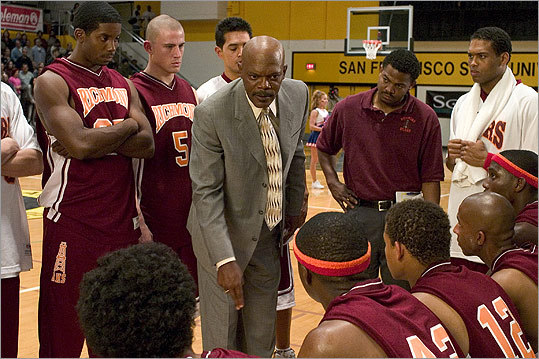 Coach Carter In a more sober coaching film, Samuel L. Jackson plays a strict high school coach who benches his team after they fail to keep up their grades. Indeed, some things are more important than basketball.