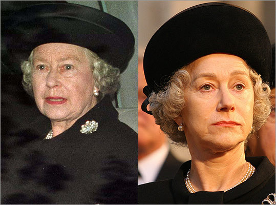 "Subject : Queen Elizabeth II (left, in 1997) Actress and film : Helen Mirren in ""The Queen"" (2006) Does Mirren look like Queen Elizabeth II?"