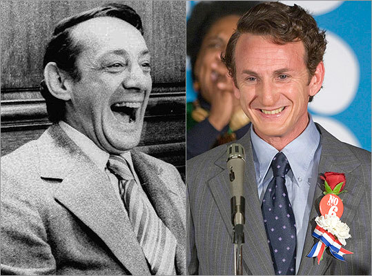 "Subject : Harvey Milk (left, in 1977) Actor and film : Sean Penn in ""Milk"" (2008) Does Penn look like Milk?"
