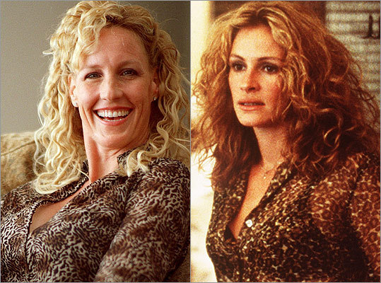 "Subject : Erin Brockovich (left, in 2000) Actress and film : Julia Roberts in ""Erin Brockovich"" (2000) Does Roberts look like Brockovich?"