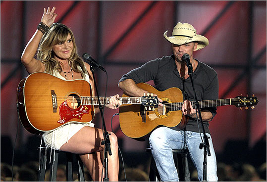 Grace Potter (left) joined Kenny Chesney for 'You and Tequila.'