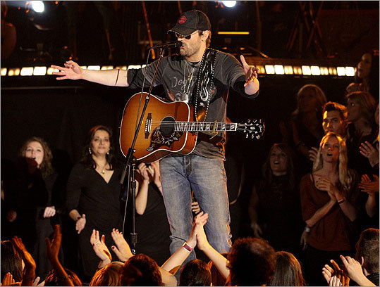 Eric Church performed 'Drink In My Hand.'