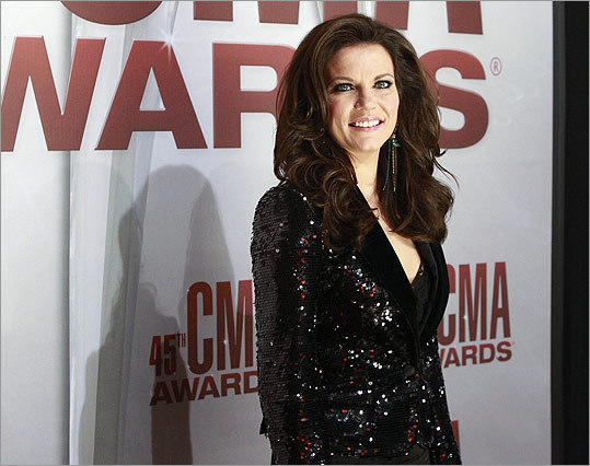 Female vocalist of the year nominee Martina McBride arrived to the show.