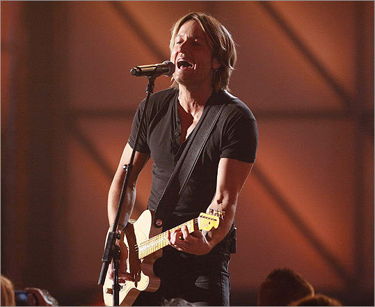 Keith Urban played 'You Gonna Fly.' He later came back to the stage to perform a tribute to Glen Campbell.