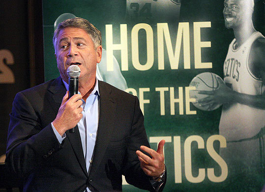 Nov. 8 in Boston Comcast SportsNet and the producers of the play 'Magic/Bird' held a night of Celtics vs. Lakers memories at Johnnie's Restaurant in the West End in anticipation of the new Broadway show. Pictured: Producer Tony Ponturo talked about the new Broadway play.