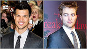 'Twilight' heartthrobs Taylor Lautner (left) and Robert Pattinson