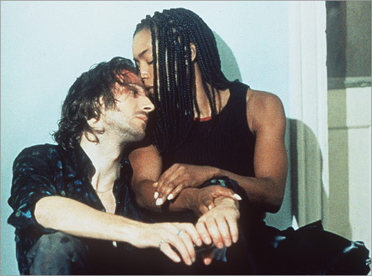 In the 1995 cult sci-fi film 'Strange Days,' Lornette (Angela Bassett) and Lenny (Ralph Fiennes) follow a script similar to 'Bridget Jones.' OK, only in one way: they kiss just before the credits roll. But here's the kicker: it's also at the turn of the millennium.