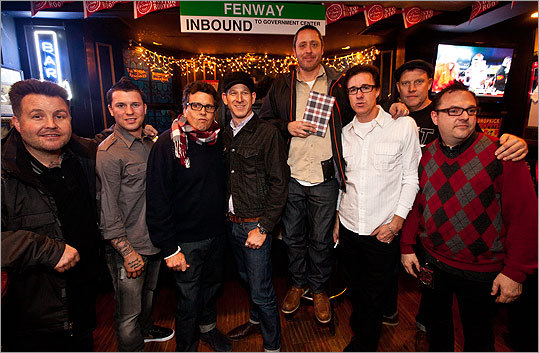 Dec. 30 at McGreevy's in Boston From left: McGreevy's owner, Ken Casey of the Dropkick Murphys, local boxing star Danny O'Connor, and members of the Mighty Mighty Bosstones got together for a shot at the Mighty Meet & Greet with the ska band.