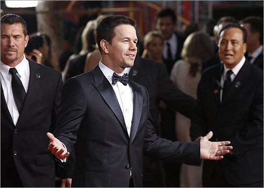 Mark Wahlberg arrived on the heels of his new film 'Contraband' taking the top spot at the box office.