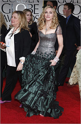Singer/director Madonna made a grand entrance.
