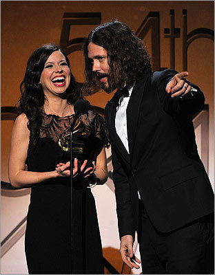 Joy Williams and John Paul White of the Civil Wars took home the award for best country duo/group performance.