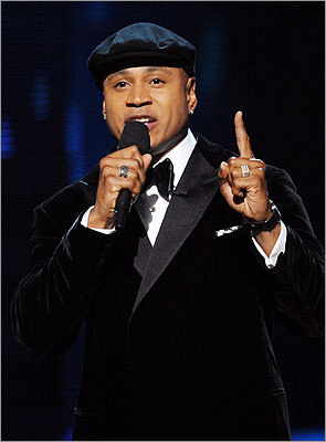 Host LL Cool J opened the show with a prayer in memory of Whitney Houston, who died the evening before the show.