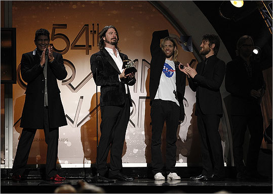 Foo Fighters won the award for rock metal performance.