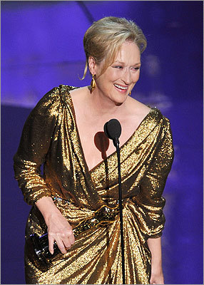 Meryl Streep acknowledged that much of America likely sighed when she won best actress for 'The Iron Lady.'