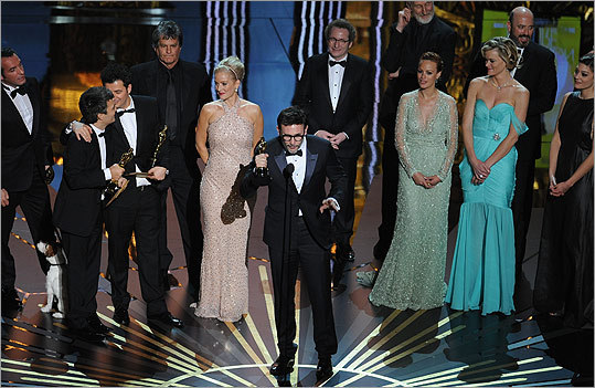 The 84th annual Academy Awards took place on Feb. 26 in Hollywood. Check out scenes from the show, including winners and big moments. 'The Artist' took home the award for best picture. Michel Hazanavicius, who also won best director, said his wife, Berenice Bejo, was the 'soul of the movie.'