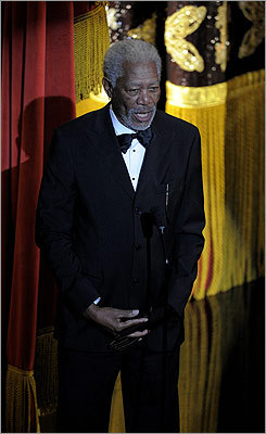 Morgan Freeman made the opening remarks and welcomed the audience to the 84th Academy Awards.