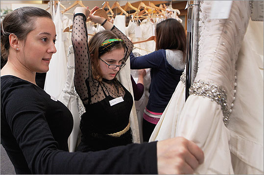 The program, which was organized by Lasell College and Brides Across America, drew 15 brides from the eastern US and Chicago. Lasell contributed designer gowns valued from $1,000 to $8,000.