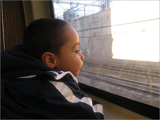 'Looking back at this picture, I realized how much I hated to take the T, but my son always seemed to enjoy the ride. He looked like he didn't have a care in the world,' wrote Iesha. 'It's hard for me to do a lot with my son, because I'm always busy, and I barely see him. He goes to school, and I'm working. We don't really have time in the middle, except for bedtime… I'm telling myself it's only temporary, because I'm trying to get him stable.'