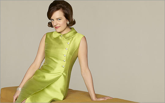 """PEGGY OLSON What just happened: Peggy and Ken Cosgrove landed the Topaz stockings account. What could happen: Peggy wins a bra account, burns her own, and gives Don an ultimatum demanding to be made a partner at Sterling Cooper Draper Pryce. What should happen: Peggy experiments with Joyce, Joyce experiments with some Topaz (""""the only pair of pantyhose you'll ever need!'')."""