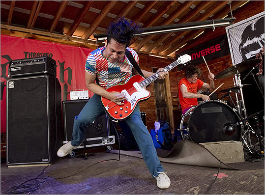 Quirky rockers Deerhoof performed at the Thrasher and Converse Death Match side party at Scoot Inn on March 15.