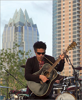 M. Ward, a longtime solo performer who has recently collaborated with the supergroup Monsters of Folk, played at Auditorium Shores on March 15.