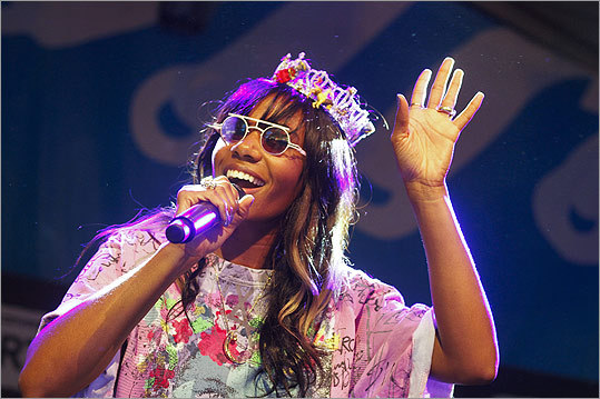 Santigold performed at the Fader Fort presented by Converse day party on March 14.