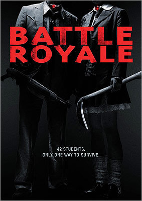 Battle Royale The name says it all. Set in the future, this 2000 Japanese film sees a government place high school freshmen on an island to, well, engage in a battle royale.